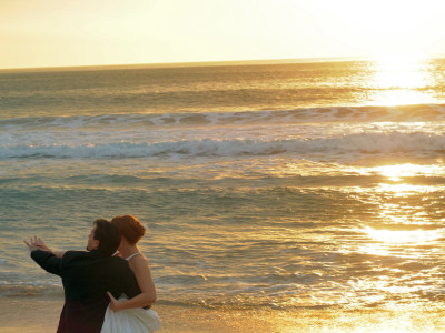 Wedding Dance at Sunset