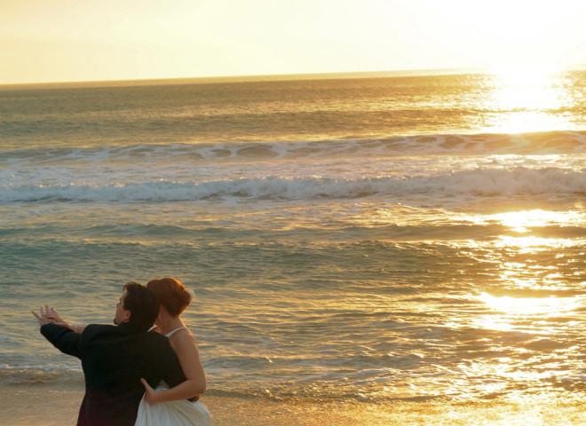 Wedding Dance at Sunset